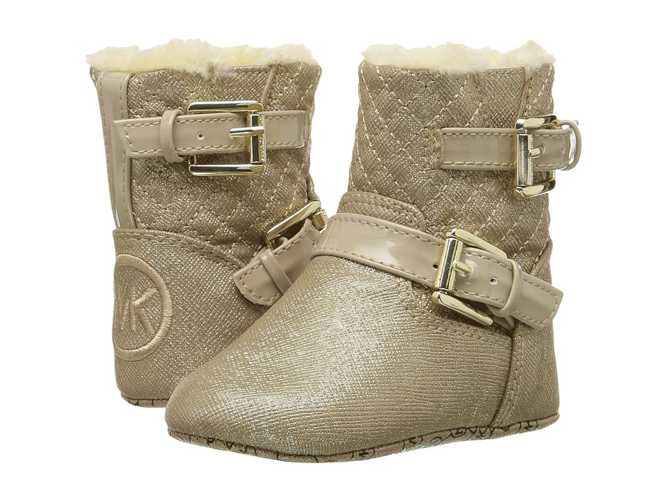 MICHAEL Michael Kors Kids - Baby Harmony (Infant/Toddler) (Gold Shimmer Saffiano) Girls Shoes