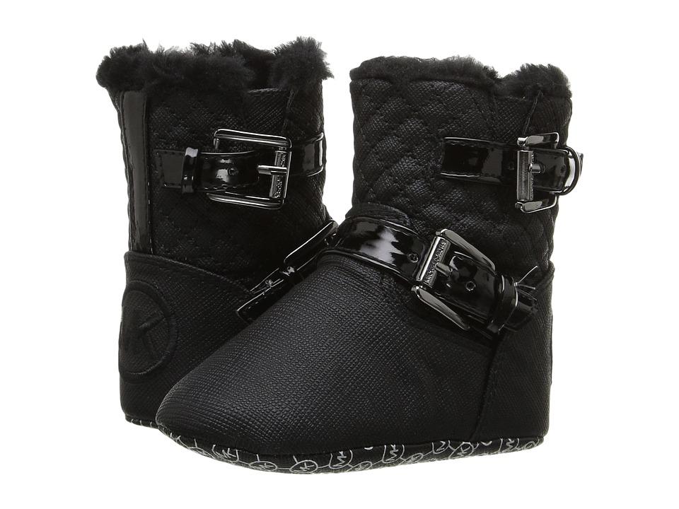 MICHAEL Michael Kors Kids - Baby Harmony (Infant/Toddler) (Black Shimmer Saffiano) Girls Shoes