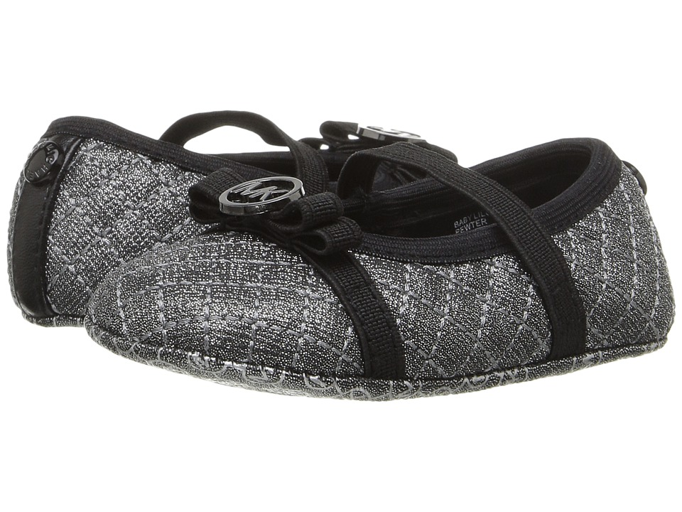MICHAEL Michael Kors Kids - Baby Lilo (Infant/Toddler) (Pewter) Girls Shoes