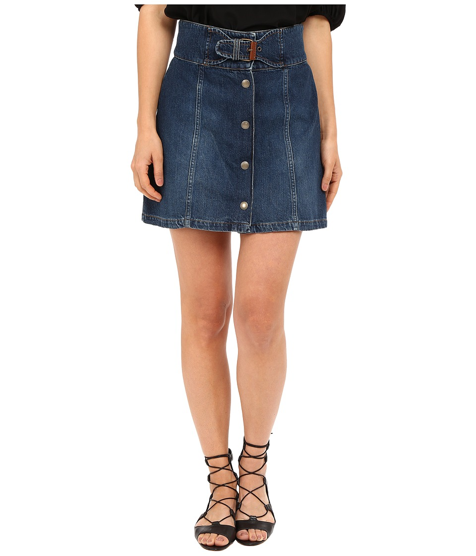 RED VALENTINO - Denim Skirt (Light Blue Denim) Women's Skirt