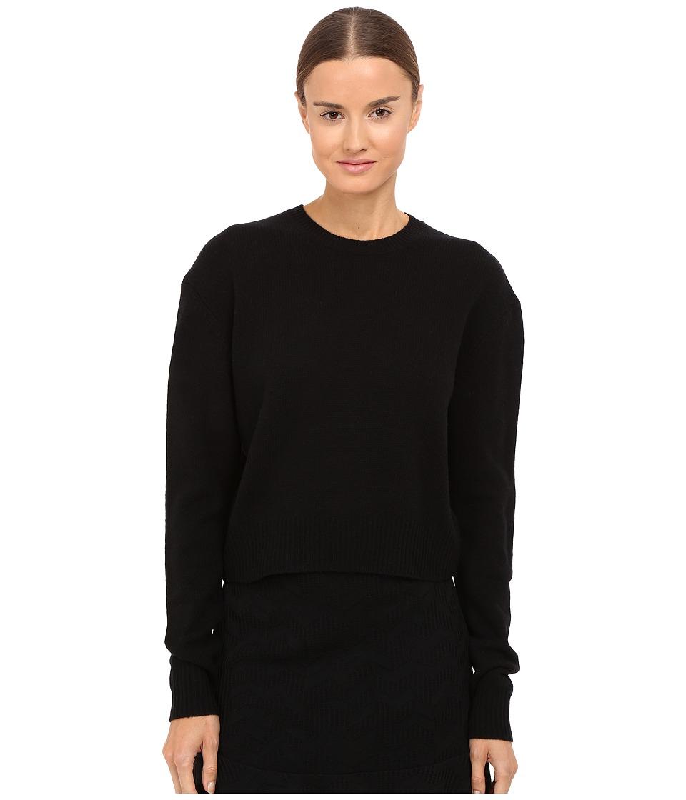 McQ - Lamb Basic Crew Neck (Darkest Black) Women's Clothing