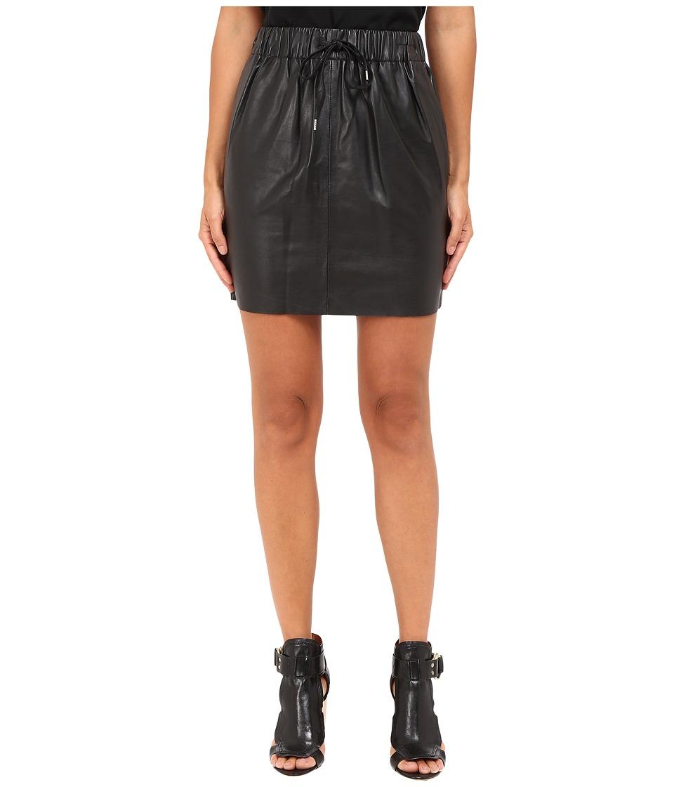McQ - Drawstring Mini Skirt (Black) Women's Skirt