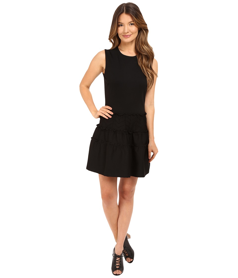 RED VALENTINO - Tech Ponte Jersey Dress (Black) Women's Dress