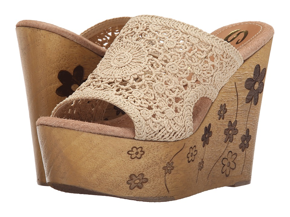 Sbicca - Carolena (Natural) Women's Wedge Shoes