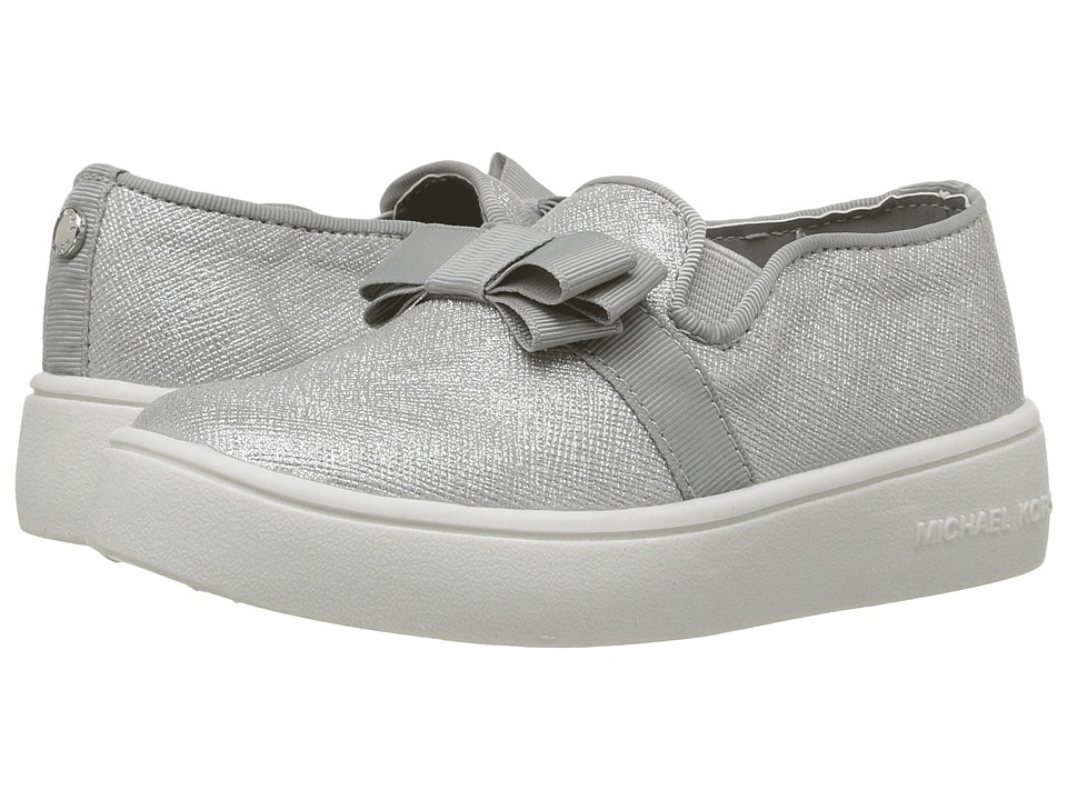 MICHAEL Michael Kors Kids - Ivy Bowi-T (Toddler/Little Kid) (Silver Shimmer Saffiano) Girl's Shoes