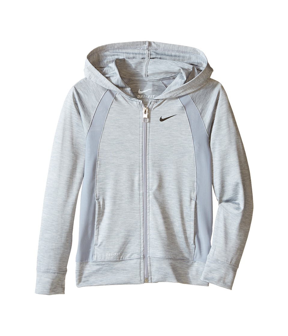 Nike Kids - Dri-FIT Lightweight Sport Essentials F/S Hoodie (Little Kids) (Wolf Grey) Girl's Sweatshirt