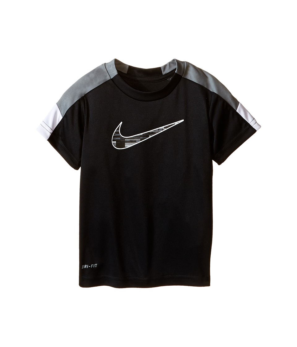 Nike Kids - Dri-FIT Pieced Sport Essentials Short Sleeve Top (Toddler) (Black) Boy's Clothing