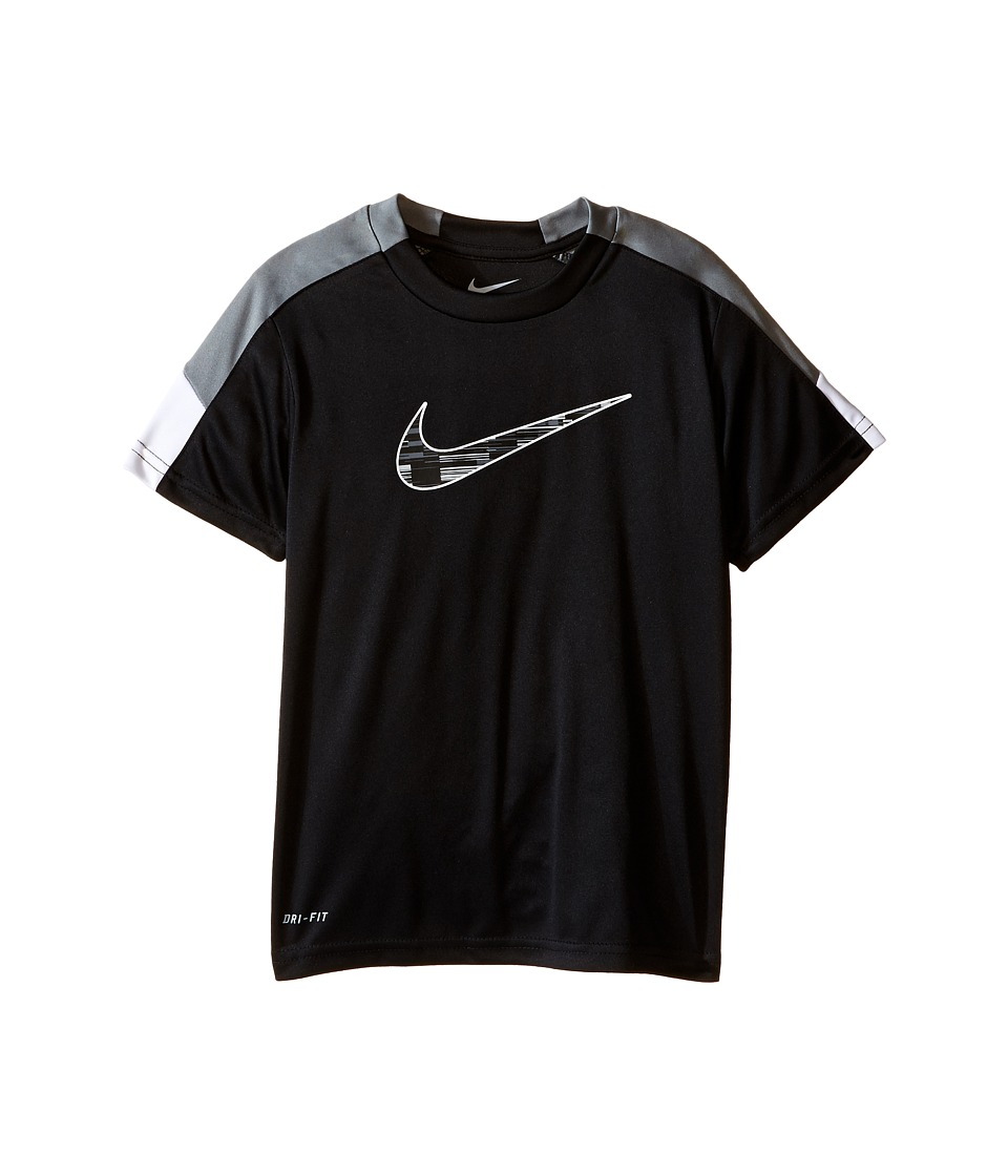 Nike Kids - Dri-FIT Pieced Sport Essentials Short Sleeve Top (Little Kids) (Black) Boy's Clothing