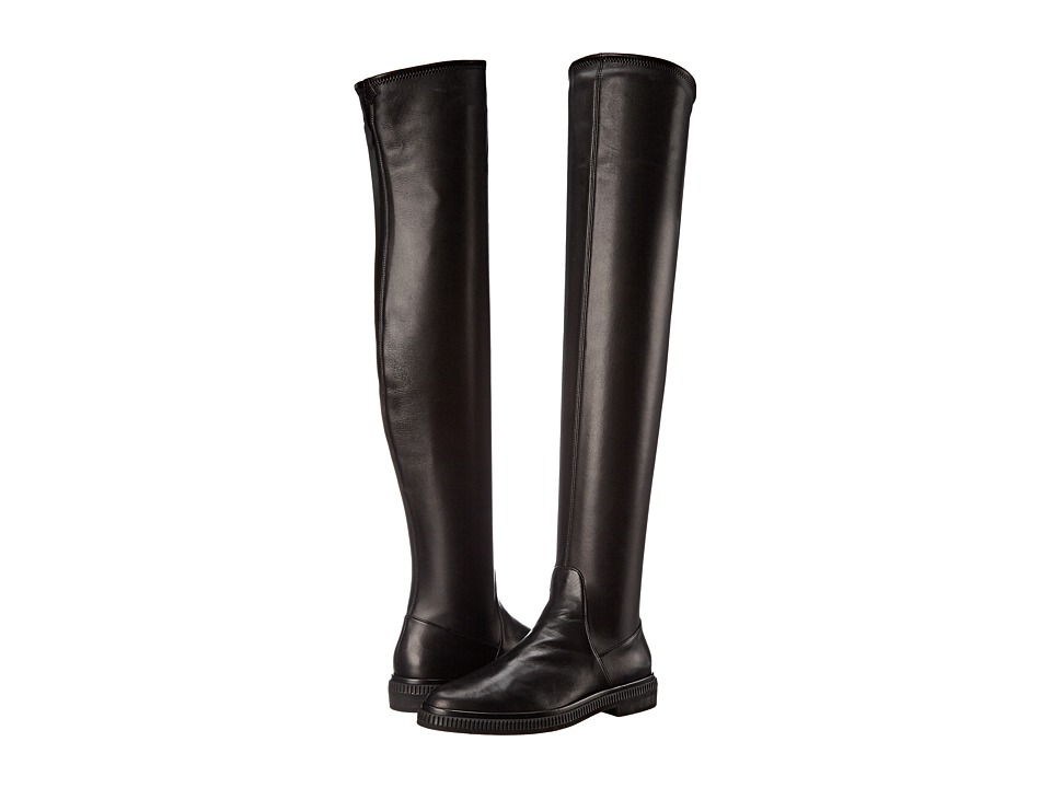 Sergio Rossi - Seattle (Black Stretch Leather) Women's Boots