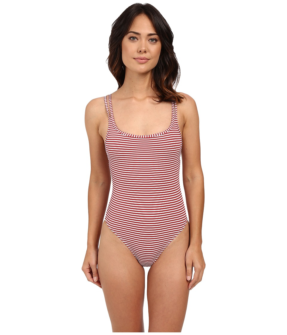 JETS by Jessika Allen - Limited Release Double Strap One-Piece (Rouge/Indigo/White) Women's Swimsuits One Piece