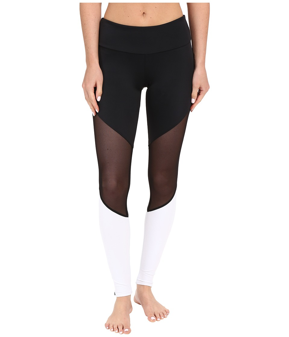 Onzie - Track Leggings (Black/Black Mesh/White) Women's Casual Pants