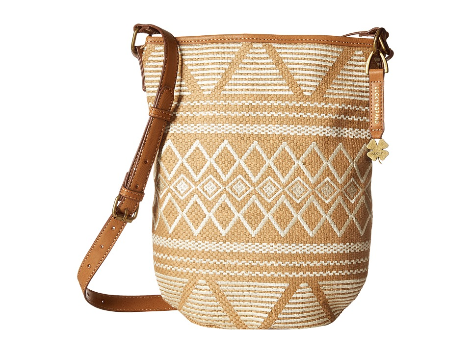 Lucky Brand - Cassis Bucket Crossbody (Neutral) Cross Body Handbags