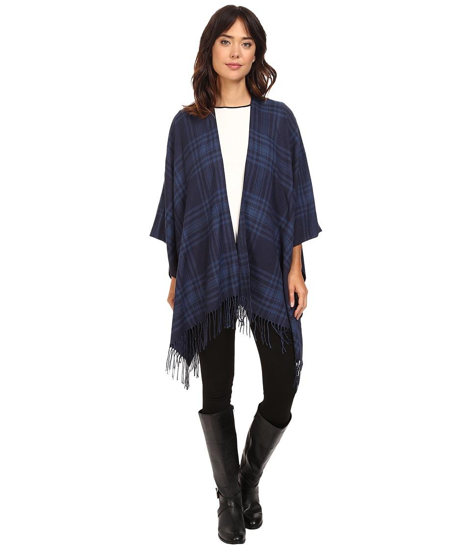 LAUREN Ralph Lauren - Talia Ruana (Navy) Women's Long Sleeve Pullover