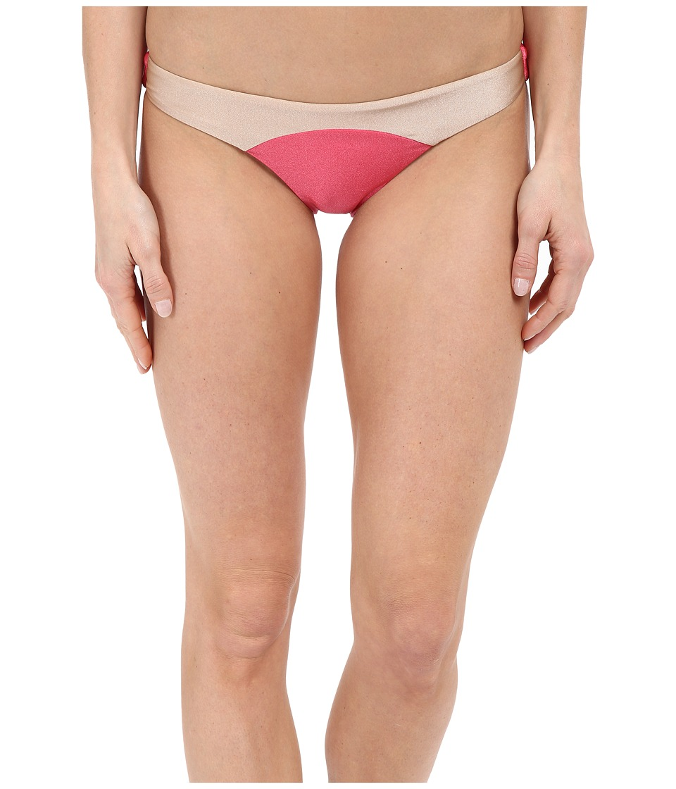 Amuse Society Sara Color Block Skimpy Fit Bottom (Guava) Women