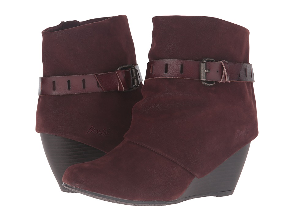 Blowfish - Beryl (Burgundy Fawn PU/Wine Dyecut PU) Women's Pull-on Boots