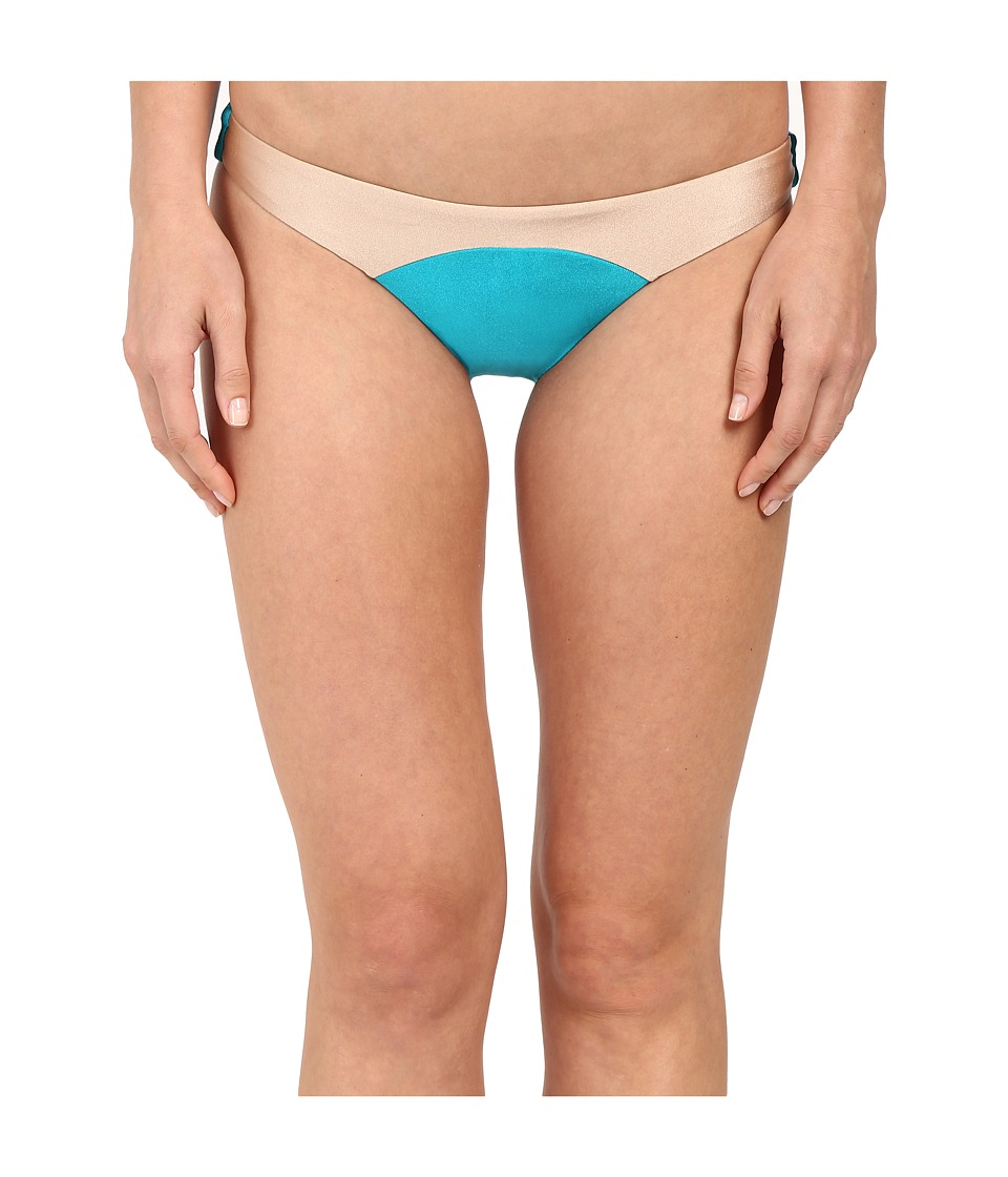 Amuse Society - Sara Color Block Skimpy Fit Bottom (Turquiose) Women's Swimwear