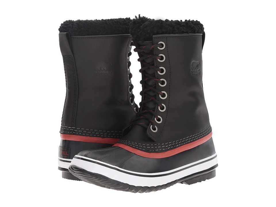 SOREL - 1964 Premium Leather (Black/Red Dahlia) Women's Cold Weather Boots