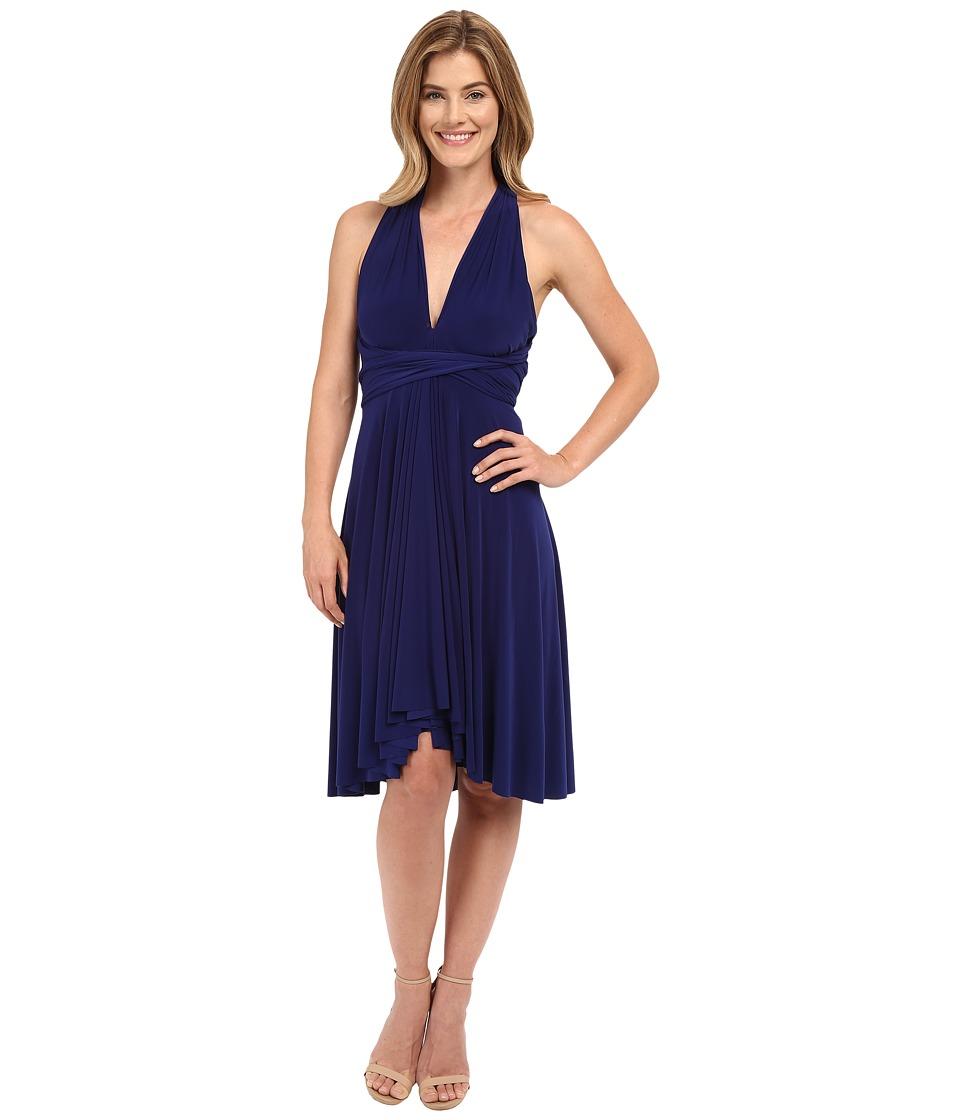 KAMALIKULTURE by Norma Kamali - Convertible Dress (Blueberry) Women's Dress