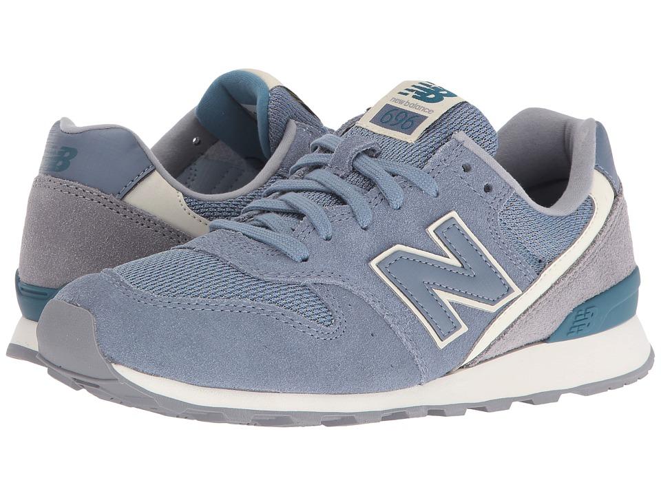 New Balance Classics - WL696 (Blue Rain/Steel Suede/Mesh) Women's Classic Shoes