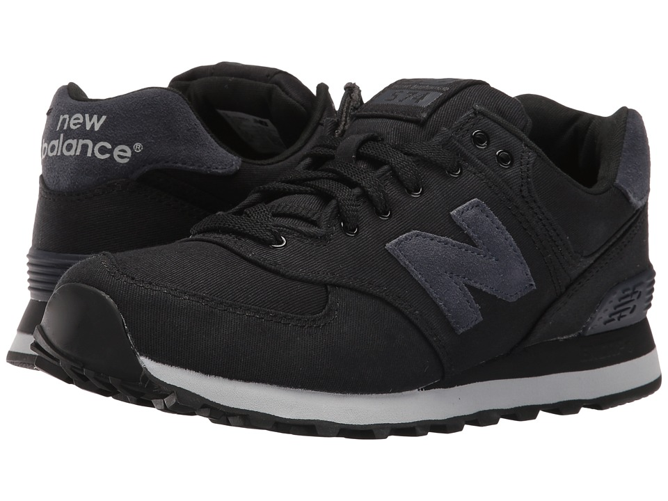 New Balance Classics - ML574 (Black/Outerspace Textile) Men's Shoes