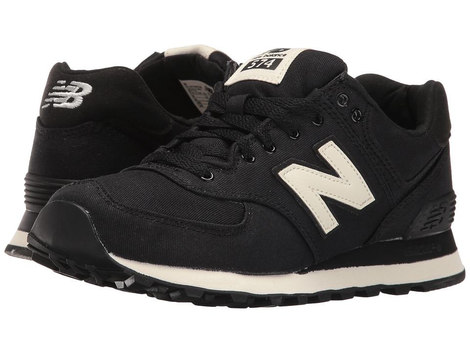 New Balance Classics - WL574 (Black/Angora Textile) Women's Lace up casual Shoes