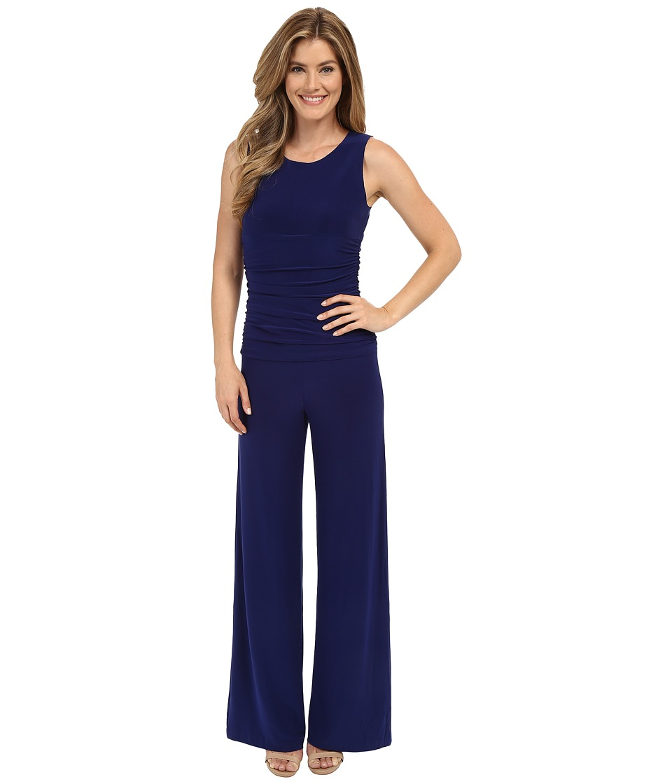 KAMALIKULTURE by Norma Kamali - Sleeveless Shirred Waist Jumpsuit (Blueberry 1) Women's Jumpsuit & Rompers One Piece
