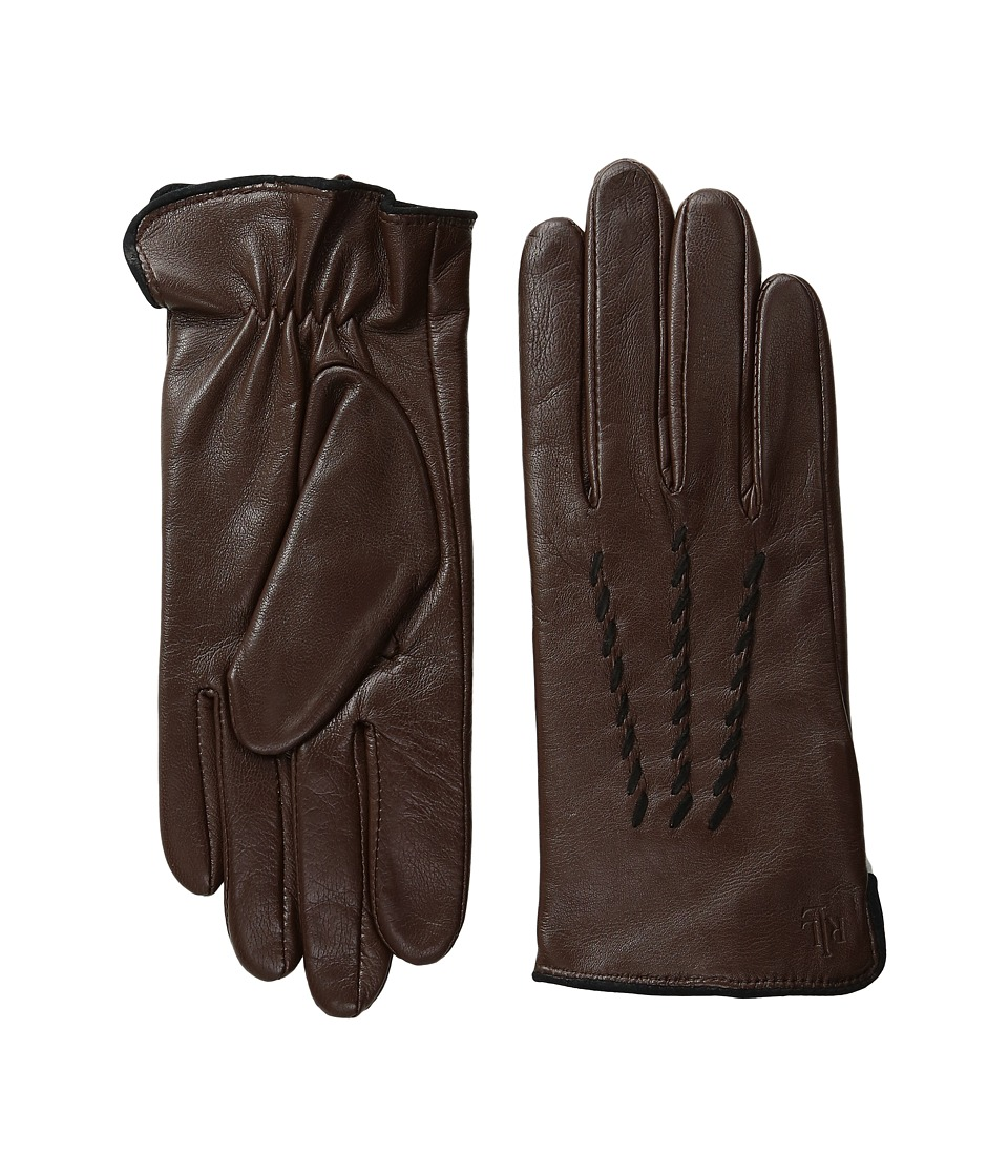 LAUREN Ralph Lauren - Whip Stitch Points Thinsulate Gloves (Coffee/Black) Dress Gloves