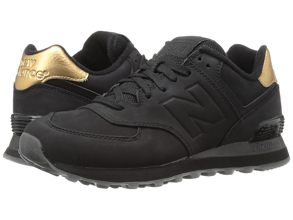 New Balance Classics - WL574 (Black Synthetic) Women's Lace up casual Shoes