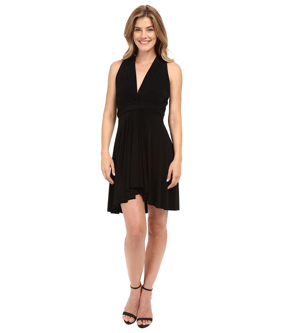 KAMALIKULTURE by Norma Kamali - Convertible Mini Dress (Black) Women's Dress