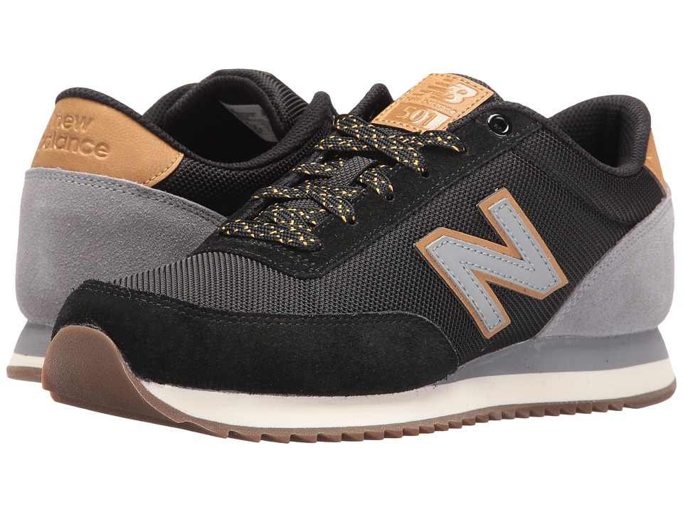 New Balance Classics MZ501 (Black/Grey Suede/Synthetic) Men