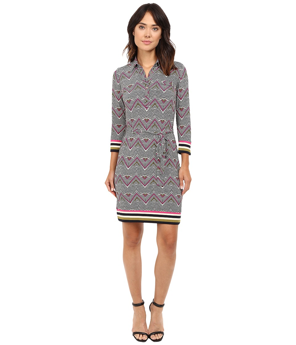 Donna Morgan - Matte Jersey Dress (Pink Multi) Women's Dress