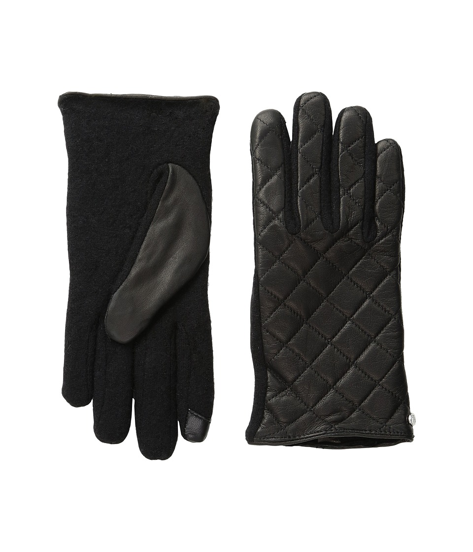 LAUREN Ralph Lauren - Quilted Hybrid Touch Gloves (Black) Dress Gloves