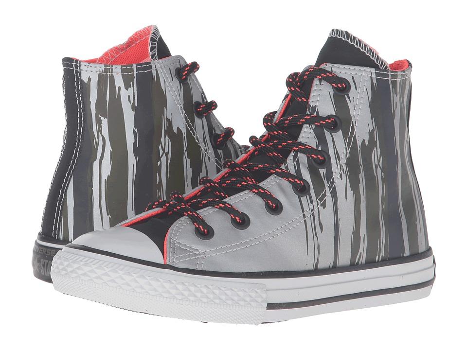 Converse Kids - Chuck Taylor All Star Reflective Hi (Little Kid/Big Kid) (Cadet Grey/Bright Crimson/Mouse) Boy's Shoes