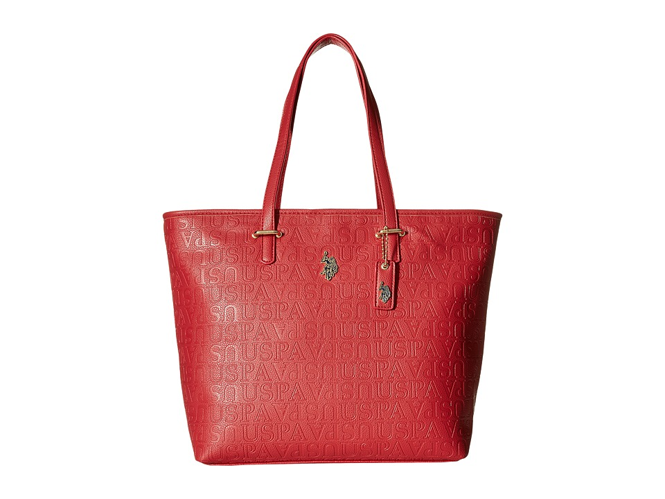 U.S. POLO ASSN. - Heather Tote (Red) Tote Handbags