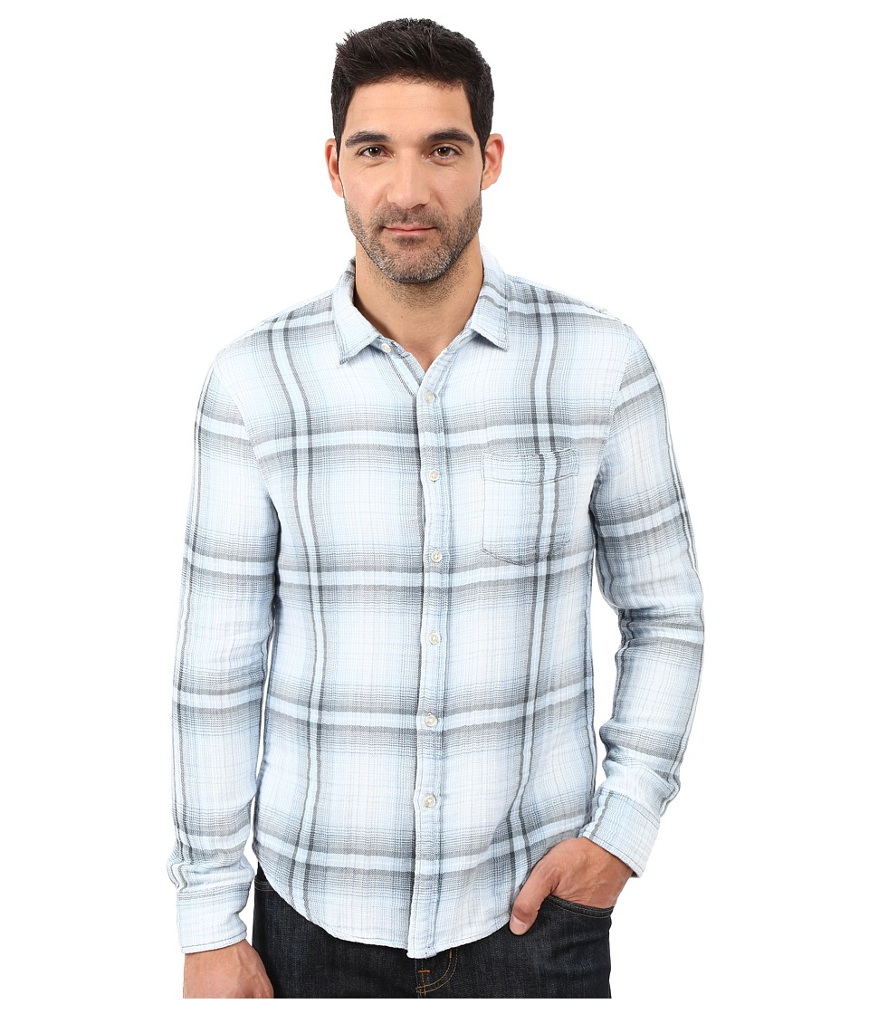 Joe's Jeans - Double Woven Slim Fit Top (Bleached Indigo Plaid) Men's Long Sleeve Pullover