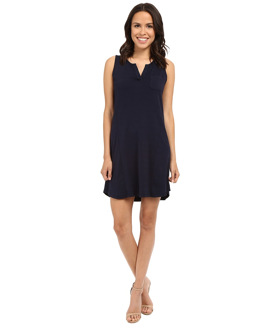 Three Dots - Joanna Sleeveless Pocket Tee Dress (Night Iris) Women's Dress