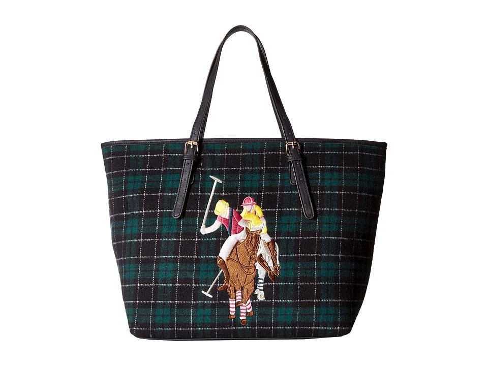 U.S. POLO ASSN. - Wyatt Tote (Hunter Green Plaid) Tote Handbags