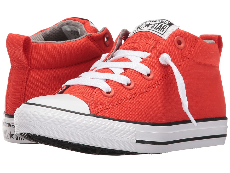 Converse Kids - Chuck Taylor All Star Street (Little Kid/Big Kid) (Signal Red/Cadet Grey/White) Boy's Shoes
