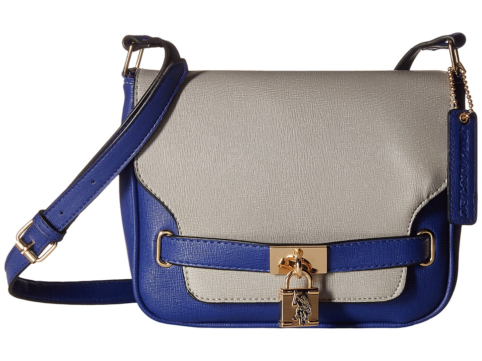 U.S. POLO ASSN. - Robinson Shoulder Bag (Grey/Blue) Shoulder Handbags