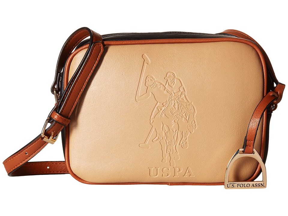 U.S. POLO ASSN. - Lia Embossed Camera Bag (Beige) Handbags