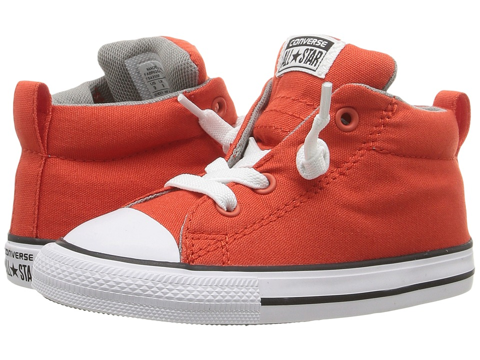 Converse Kids - Chuck Taylor All Star Street Mid (Infant/Toddler) (Signal Red/Cadet Grey/White) Boy's Shoes