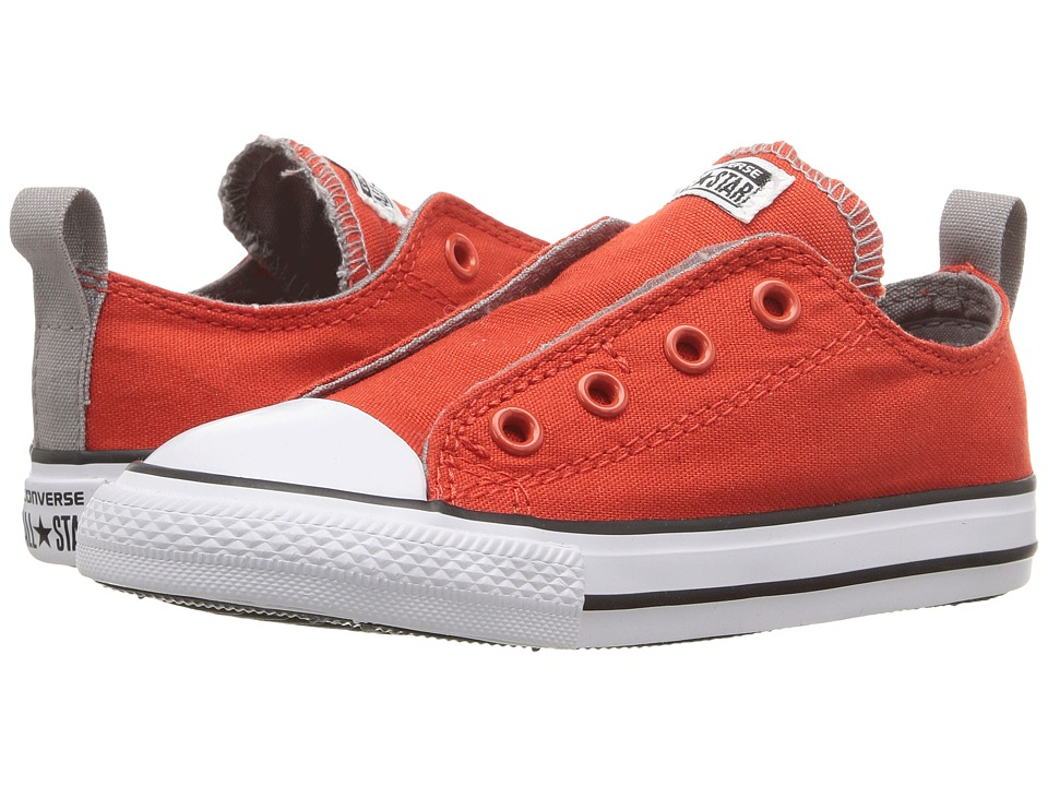 Converse Kids - Chuck Taylor All Star Simple Slip (Infant/Toddler) (Signal Red/Cadet Grey/White) Boy's Shoes