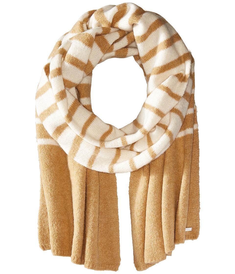 LAUREN Ralph Lauren - Boiled Wool Stripe Blanket Scarf (Cream/Camel) Scarves