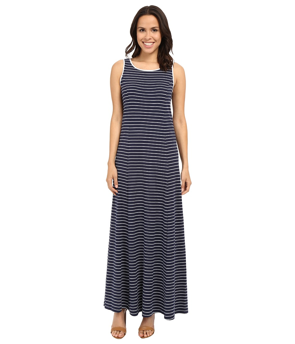 Three Dots - Daisy Sleeveless Dress (Navy/White Combo) Women's Dress