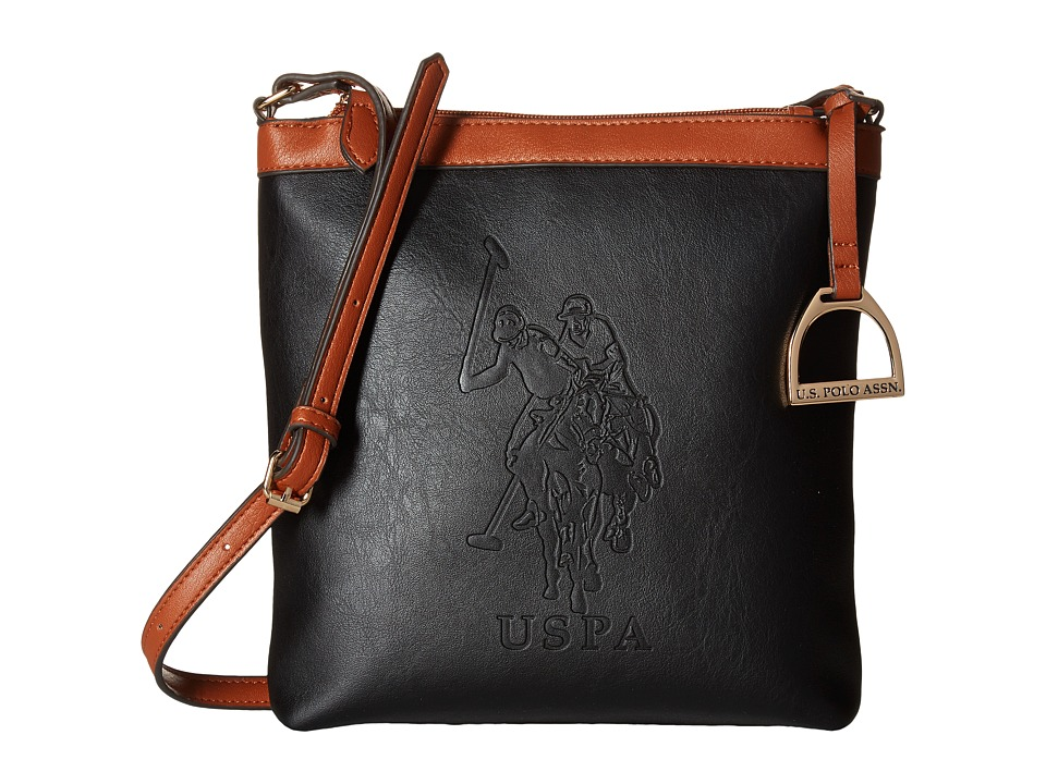 U.S. POLO ASSN. - Lia Embossed Crossbody (Black) Cross Body Handbags