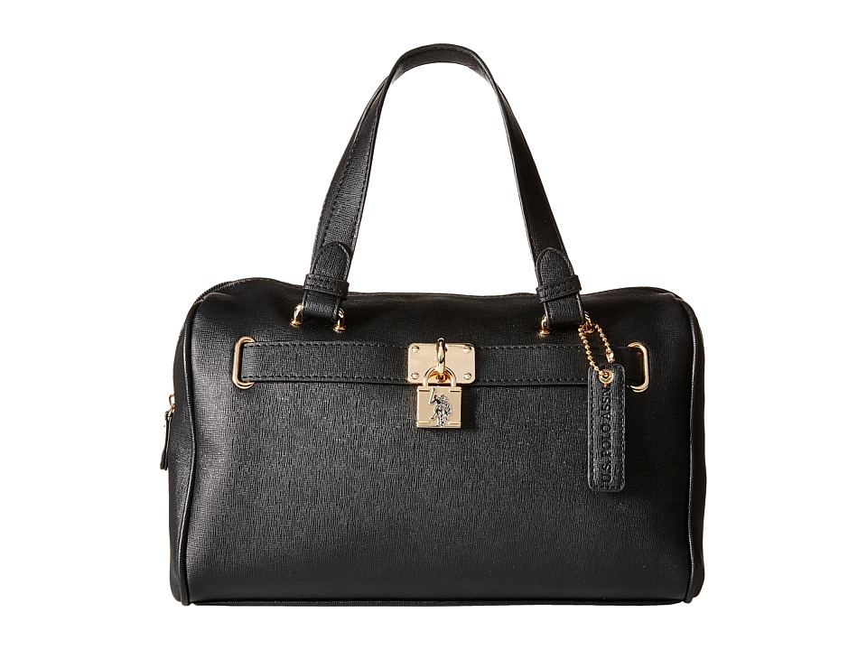 U.S. POLO ASSN. - Robinson Satchel (Black) Satchel Handbags
