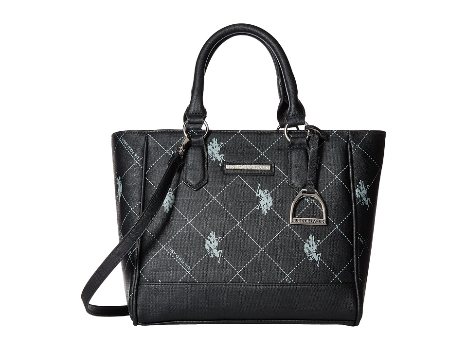 U.S. POLO ASSN. - Jeana Satchel (Black) Satchel Handbags
