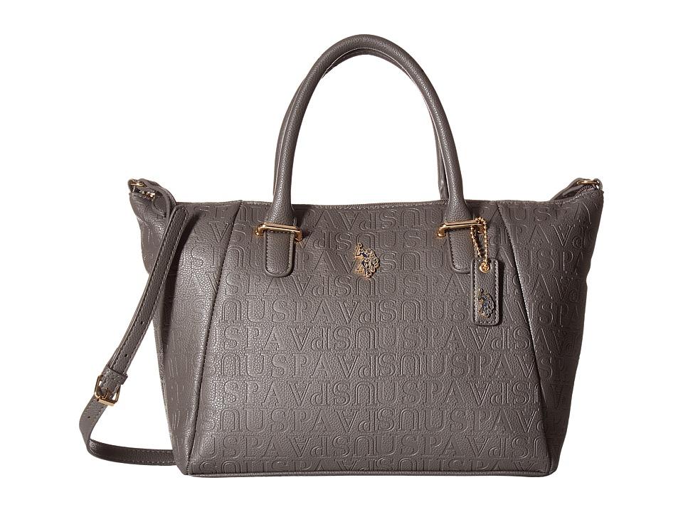 U.S. POLO ASSN. - Heather Satchel (Dark Grey) Satchel Handbags