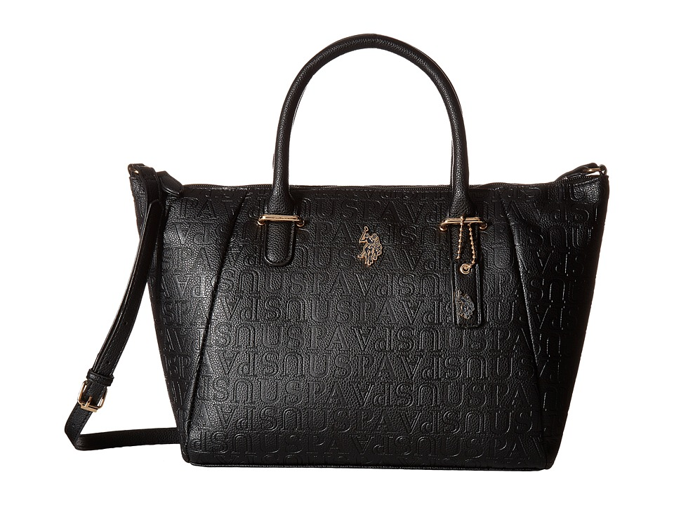 U.S. POLO ASSN. - Heather Satchel (Black) Satchel Handbags