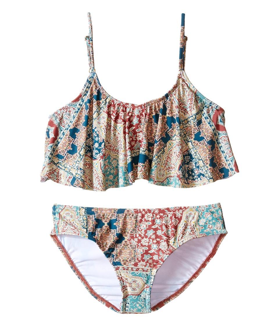 O'Neill Kids - Parker Ruffle Top Bikini Set (Little Kids/Big Kids) (Multi) Girl's Swimwear Sets